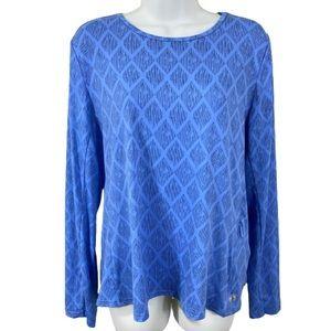 Hang Ten Blue long sleeve Rashguard XL Swim Top